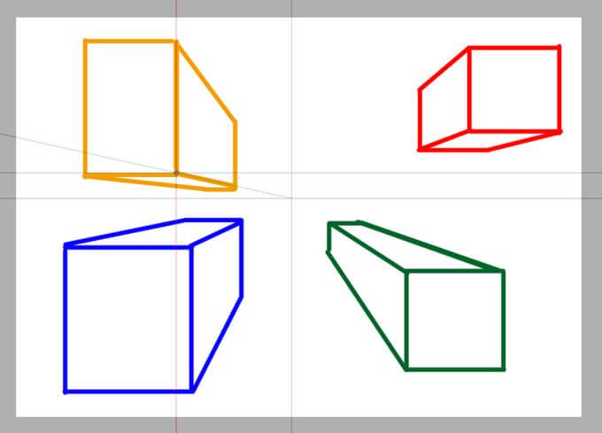 SA2定規ツール 一点透視図法