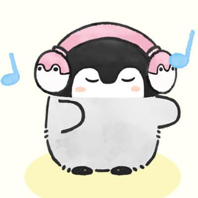 ピンクヘッドフォンコウペンちゃん