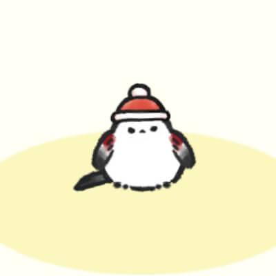 もこもこ帽子邪エナガさん